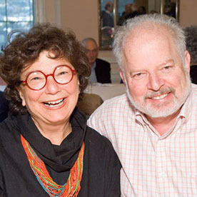 Susan and Sig Anderman at a lunch at the Jewish Home
