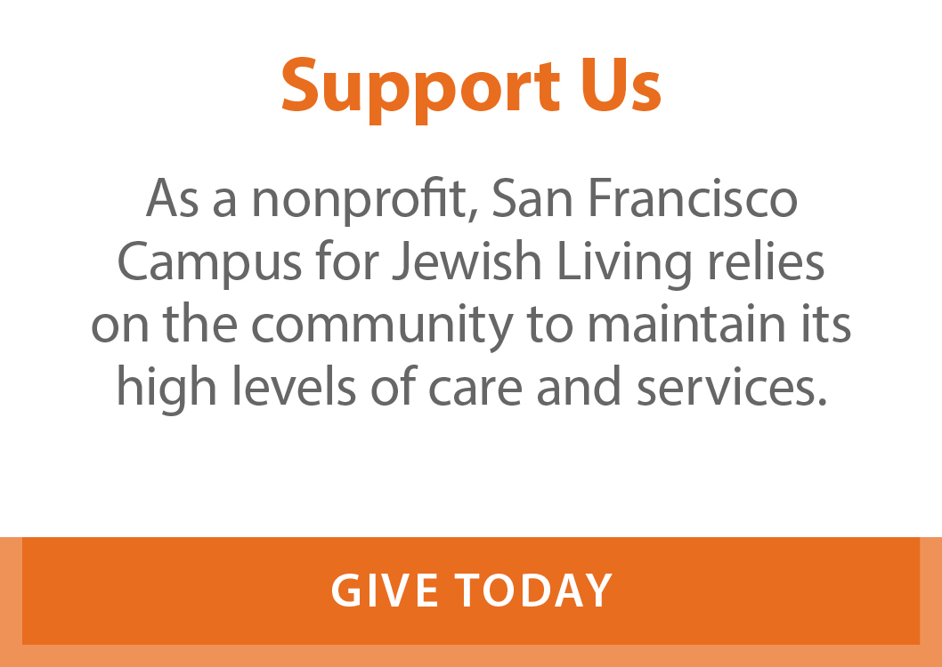 Support the Home. As a non-profit, the Home relies on the community to maintain its high levels of care and services.